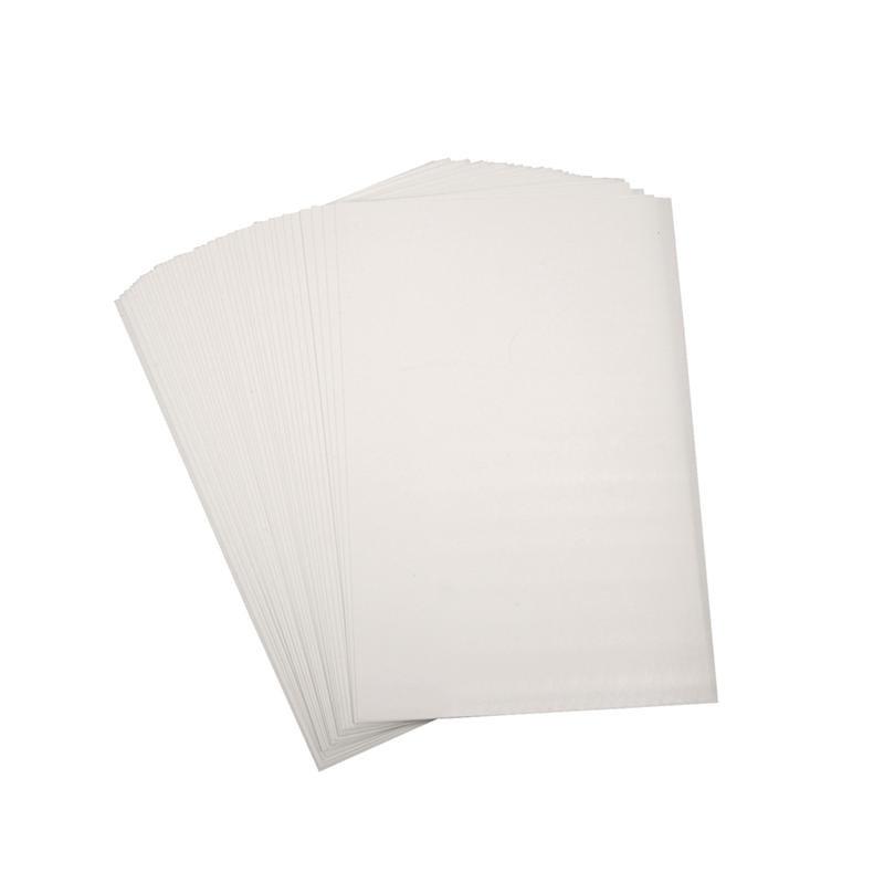 Shrink Plastic White- Pack of 5