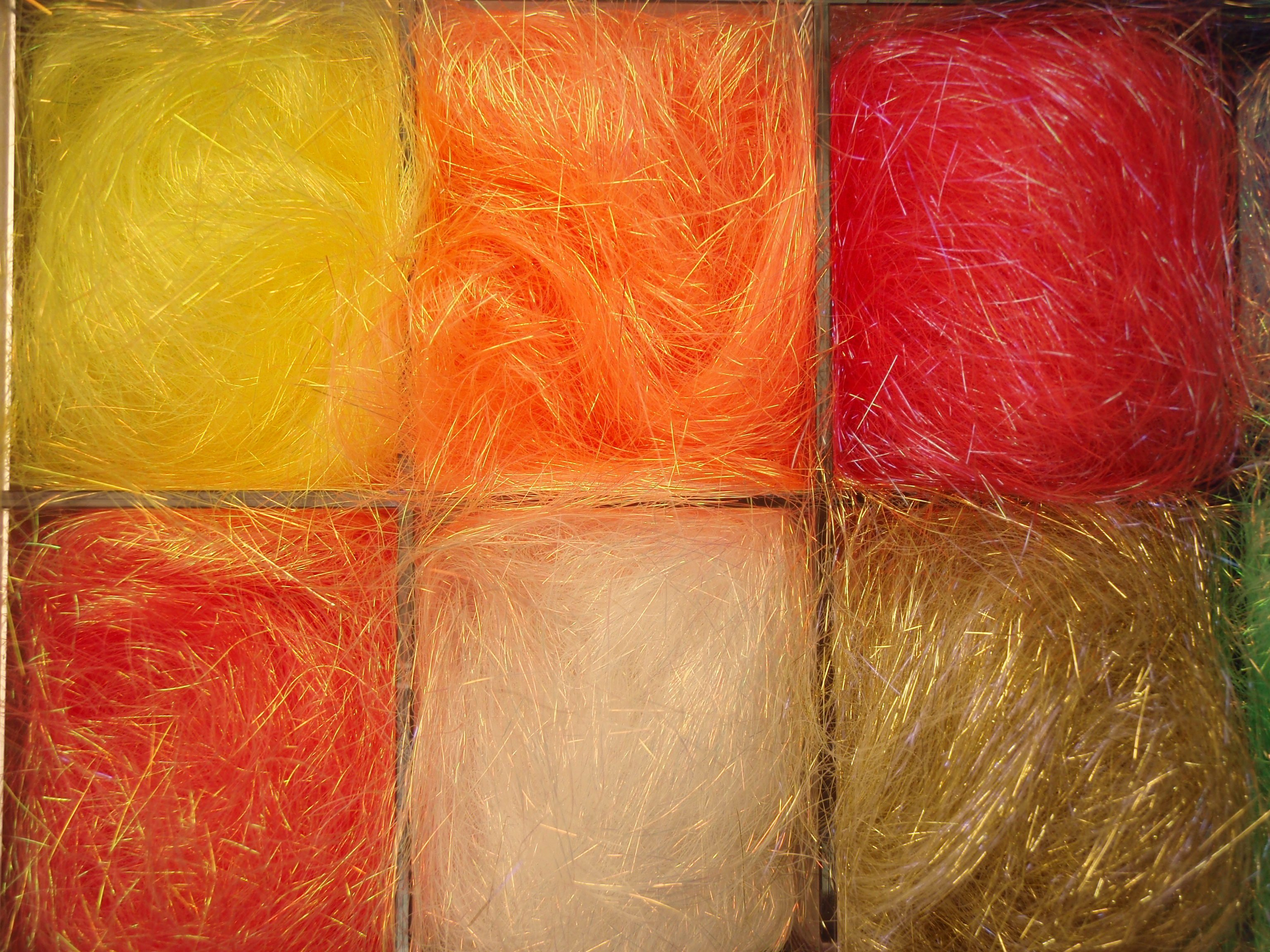 Angelina Fibres Warm Assortment Sampler Pack - 6 x 5g
