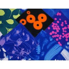 Sunprinting Cotton Fabric Coloured Squares 15cm x 15cm - pack of 5