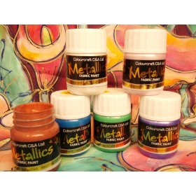 Metallic Fabric Paints  6x300ml - R