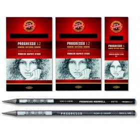 Solid Graphite Pencils Set of 6 - 8B