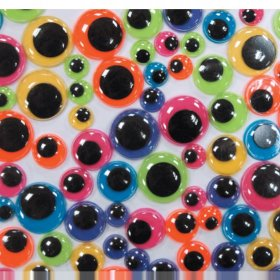 Wiggly Eyes Assorted Bright Colours - Pack of 100