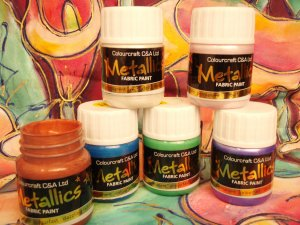 Metallic Fabric Paint Intro Pack 8x28ml- G