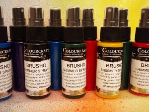 Brusho Acrylic Shimmer Spray Assorted Pack - 6 x 60ml