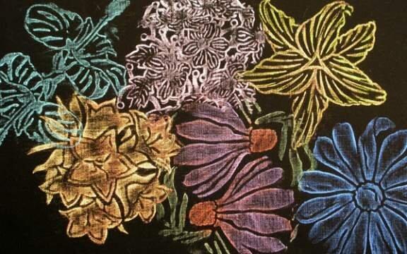 Rubbing Plate Garden Flowers