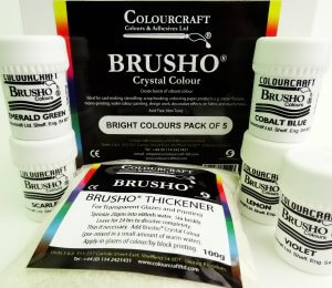 Brusho Bright Colours Pack 5x15gm Pots