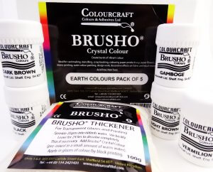Brusho Earth Colours Pck 5x15gm