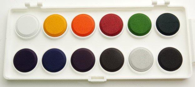Intense Water-Based Travel Dye Set 12 Asstd Colours