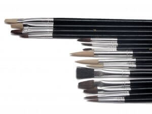 Pack of 15 Assorted Artists Brushes