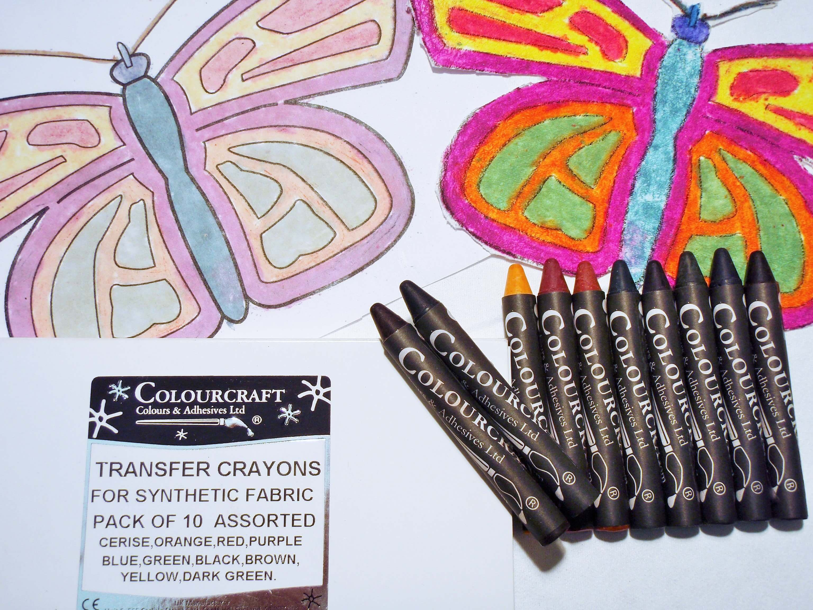Fabric Transfer Crayons pack of 10