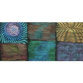 Rubbing Plate 16.5cm x 16.5cm Set of 6 - Op Art