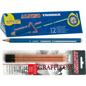 Large Triangular Shaped Graphite Pencils Pack of 12