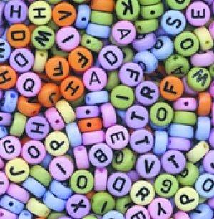 Alphabet Beads Pastel 20g