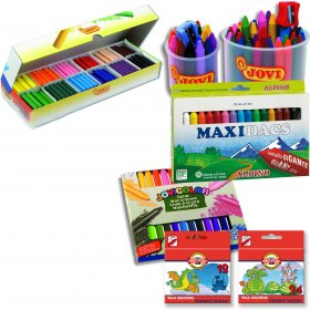 Wax Crayons Jumbo 15 Asstd Colours