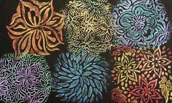 Rubbing Plate - Floral Fantasy