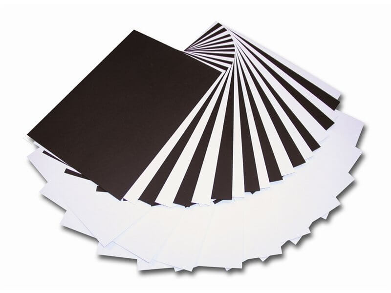 Black Card 21cm x 30cm 230gsm - 16 Sheets