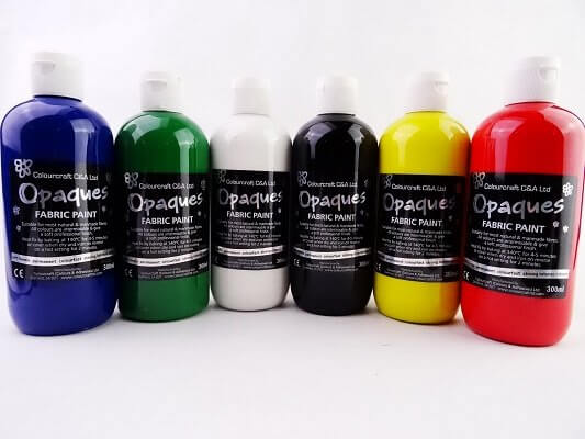 Fabric Paint Opaque Assorted - 6 x 300ml