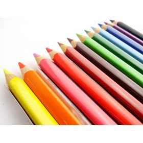 Large Triangular Coloured Pencil 12 Pack