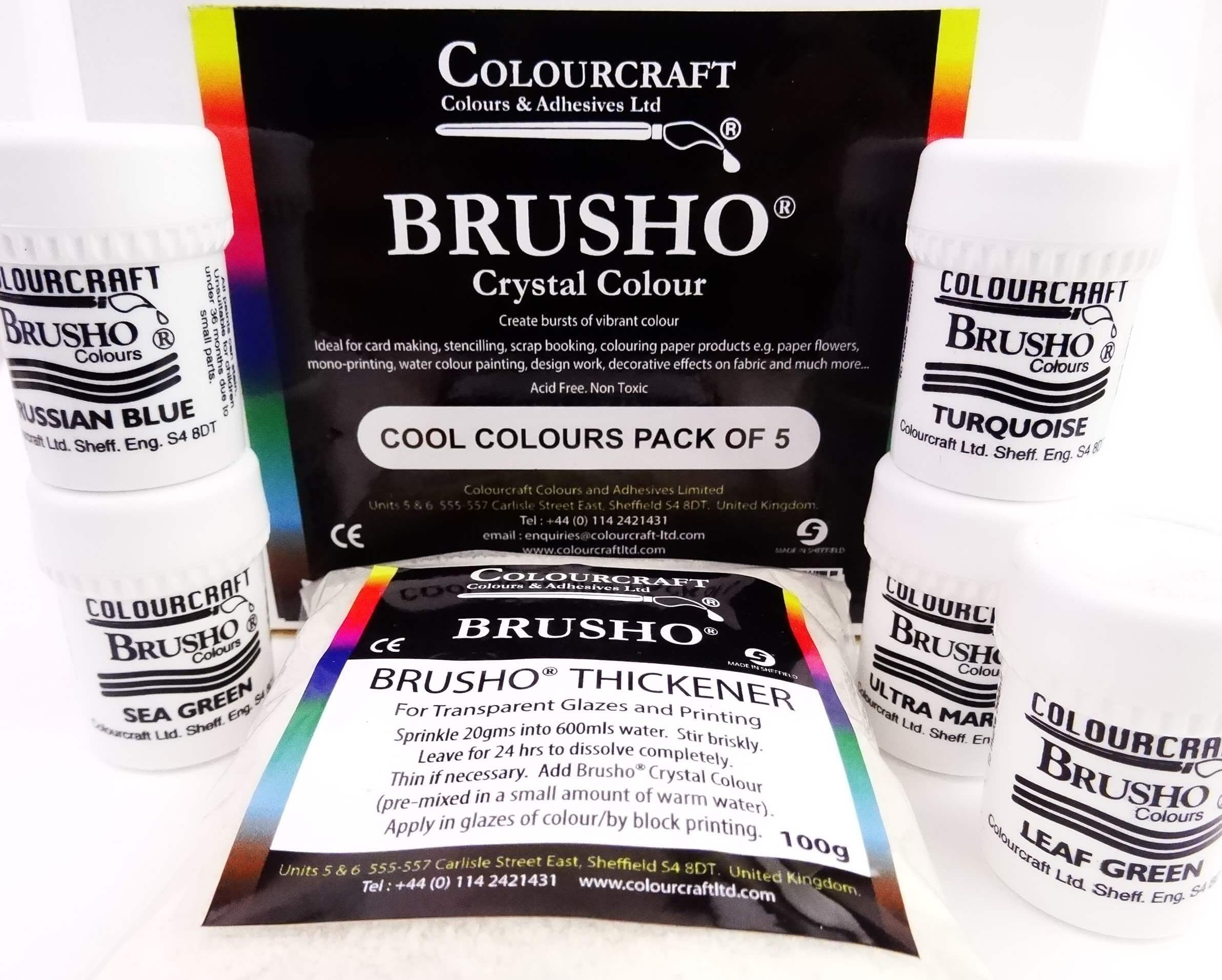 Brusho Cool Colours Pck 5x15gm
