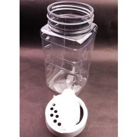 300g Clear Plastic Shaker with Lid [I]