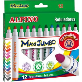 Jumbo Felt Tip Pens Assorted Pack of 12