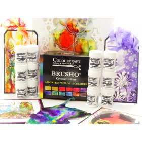 Brusho Starter Packs  - Fixed Assortment 12 colours.