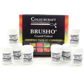 Brusho New Colours Assorted Set of 8