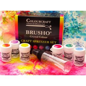 Brusho Fixed Assortment Craft Spritzer Set - 6 x 15g