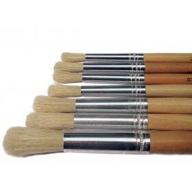 Natural Hogshair Brush Round